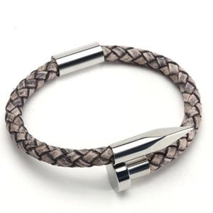 Other - NAIL IT GENUINE LEATHER & STAINLESS STEEL